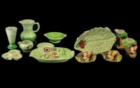 Small Collection of Pottery, to include Carlton Ware dish, Royal Minton dish,