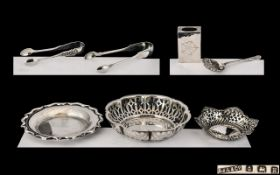 A Good Collection of Small Hallmarked Silver Items seven items in total, all marked for silver.