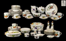 Royal Worcester 'Evesham' China Dinner/Tea Service,