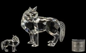 Lovely Swarovski Figure of a Fox. Nr A 7550 NR 000 002, Comes with Box and Certificate.