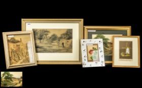 Collection of Paintings by Robert William Bates (exh. 1924-28), from Romily, Cheshire.