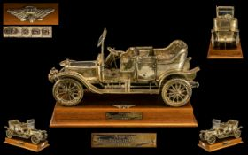 A Superior Quality and Finely Detailed Sterling Silver Model Car of Large Proportions.