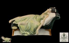 Royal Doulton Handpainted Porcelain Figure 'Sleeping Beauty' 3079. Designer A Hughes.