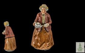 Royal Doulton Hand Painted Early Figure ' Tea Time ' HN 2255. Designer M. Nicol. Issued 1972 - 1995.
