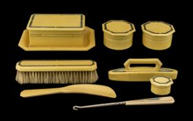Art Deco Period Ladies - Bakelite Nine Piece Vanity Set.