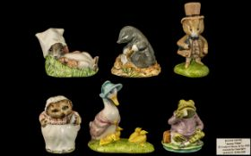 Beswick Hand Painted Beatrix Potter Figures Collection of Six ( 6 ) Comprises 1/ Jemima and Her