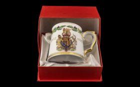 Spode Fine Bone China Tankard Queens Jubilee 1952-1976. Comes in original box.