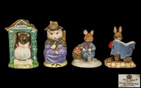 Royal Doulton and Royal Albert Collection of Hand Painted Figures ( 4 ) Comprises 1/ Royal Doulton