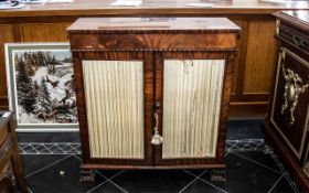 Regency Mahogany Side Cabinet with two cupboards with a beaded edge drawer to the top,