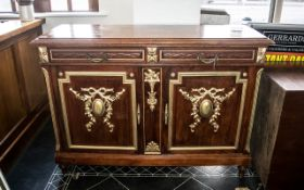 French Walnut Buffet Cabinet with two drawers and cupboards,