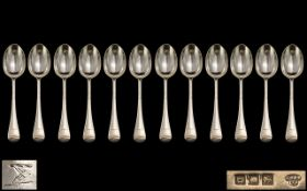 Antique Period Collection of Silver Soup Spoons ( 12 ) Spoons In Total.