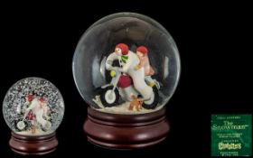 Coalport First Edition ' The Snowman Hand Painted Snow Globe ' Title ' Hold On Tight ' Date 2003.