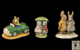Beswick Beatrix Potter Hand Painted Figure - Large Size ' The Gentleman Rabbits ' P4210. Height 5.