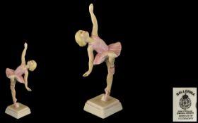 Royal Worcester Hand Painted Porcelain Figure ' Ballerina ' RW4188. Modeller Freda Doughty.