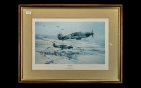 Aircraft Interest - Edmunds War Plane Limited Edition Signed Print 'Moral Support' by Robert Taylor,