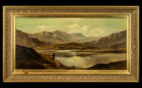 Charles Leslie Royal Academy Artist 1839 - 1886 Titled ' A View of Hawes Water,