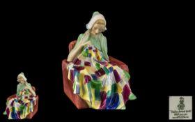 Royal Doulton Hand Painted Figure ' The Patchwork Quilt ' HN.1984. Designer L. Harradine.