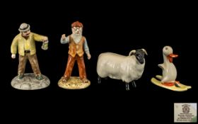 Beswick Collection of Hand Painted Figures ( 4 ) In Total.