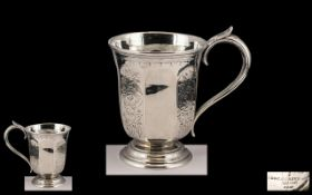 United States of America Mid 19th Century Good Quality Coin Silver Christening Cup with Engraved