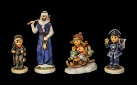 Goebel Collection of Hand Painted Figures ( 4 ) All 1st Quality and Mint Condition,