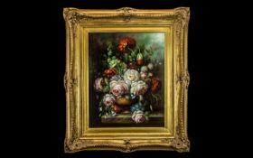 Nina Kinsky - 20th Century Dutch Artist ( World Wide Reputation ) For Excellent Works ' Stillife '