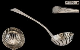 Irish - 19th Century Large Size Silver Ladle,