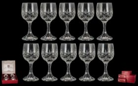 Five Boxed Sets of Schott-Zwiesel Cut Glass Wine Glasses made in Stafford,