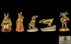 Royal Doulton Collection of Hand Painted Porcelain Bunnykins Figures ( 5 ) In Total. 1/ Romeo DB284.