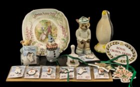 A Small Mixed Lot of Modern Collectables to include 8 The Snowman Age Concern badges,