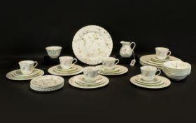 Wedgwood 'Campion' Tea/Dinner Part Set comprising six cups,