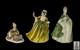 """Two Royal Doulton Figures comprising 'Simone' HN 2378, measures 8"""" tall; and 'Premiere' HN 2343, 8."""