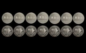 Austrian ' Philharmonic ' Collection of Six 1 oz Fine Silver .999, 1.50 Euro Coins.