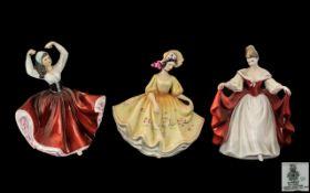 Three Royal Doulton Figures, comprising: 'Sara' HN 2265, measures 8.