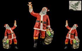 Royal Doulton Hand Painted Porcelain Figure ' Santa Claus ' HN2725. Designer W.K.Harper.