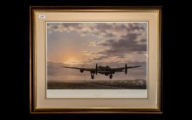 Aircraft Interest - Edmunds War Plane Limited Edition Signed Print 'Night Mission Ahead' by Keith