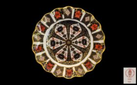 Royal Crown Derby Superb Imari Pattern 22ct Gold Banded Cabinet Plate. Pattern No 1128, Date 1979.