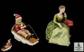 Royal Doulton Hand Painted Figurine ' Carolyn ' HN2974. Designer A. Hughes.