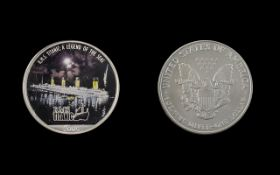 United States of America Silver Dollar - Enamelled Date 2005. R.M.S. Titanic - Legends of The Seas.