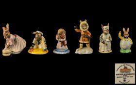 Royal Doulton Collection of Hand Painted Porcelain Bunnykins Figures ( 6 ) In Total.