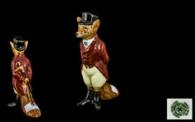 Royal Doulton Hand Painted Figure ' Huntsman Fox ' D6448. Issued 1956 - 1981. Height 4.