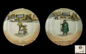 Two Royal Doulton Dickens Ware Plates 'S