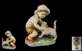 Royal Worcester Hand Painted Figure Grou