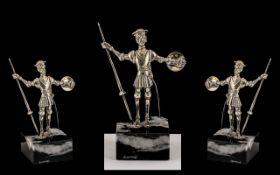 Danish Small Silver Sculpture Figure of