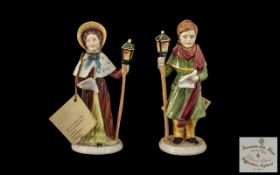 Two Francesca Art Figures made in Staffo