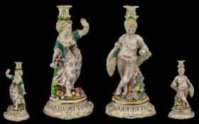 Meissen Style Late 19th Century Pair of