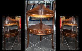 Reproduction Mahogany Corner Washstand,