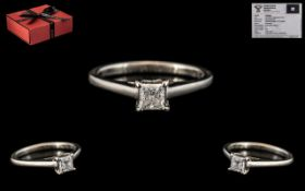Forever Diamonds White Gold Single Stone