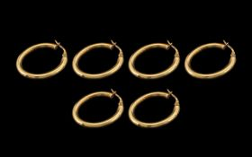 Collection of 9ct Gold Hoop Earrings ( 3
