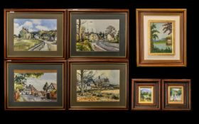 Collection of Six Modern Paintings compr