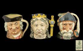 Royal Doulton Handpainted Character Jugs